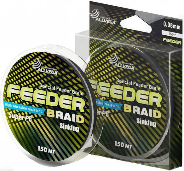Allvega Feeder Braid 150м (тёмно-серая)